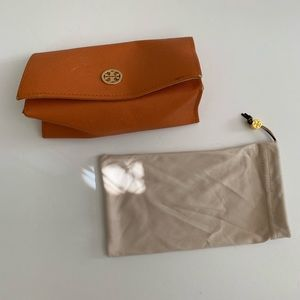 Tory Burch Sunglass Case With Drawstring Bag
